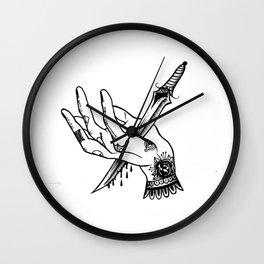 hand stab Wall Clock