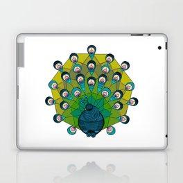 a heptagonal peacock Laptop & iPad Skin