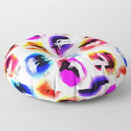 Watercolor Shadow Puppets Floor Pillow