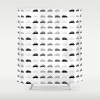 cars Shower Curtains featuring dreamy cars by Steffi Louis