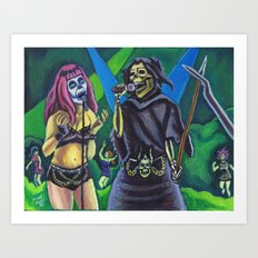 Death Duet Art Print