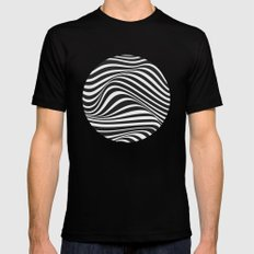 Wave Mens Fitted Tee LARGE Black