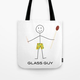 Funny Mens Glassblowing Guy Tote Bag