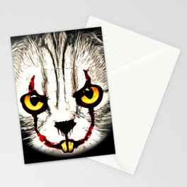 cat clown kittywise no text vector art Stationery Cards