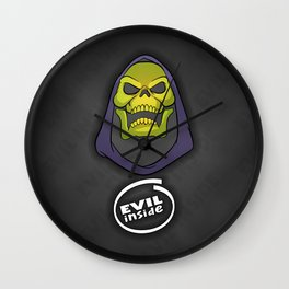 """Masters of the Universe Skeletor """"Evil inside"""" Wall Clock"""