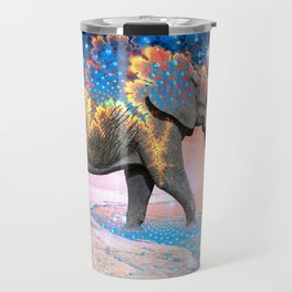 Elephant Drinking Soma Travel Mug