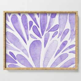 Watercolor artistic drops - lilac Serving Tray