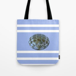 A Blue and Brown Orb Tote Bag