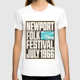 Vintage 1966 Newport Folk Festival Advertisement Poster T-shirt