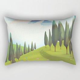 Alpine Meadow landscape Rectangular Pillow