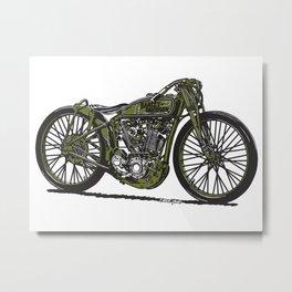 Harley Board Tracker Motorcycle Metal Print