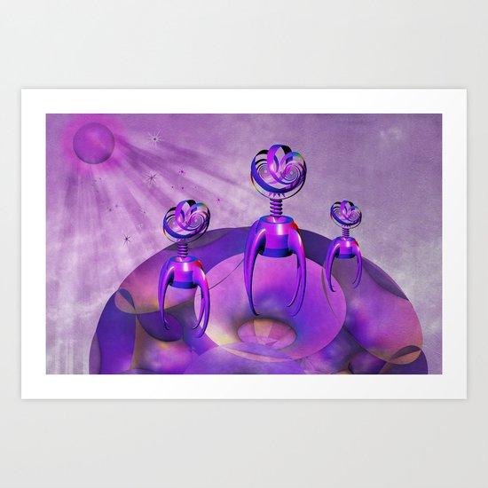 Purple People Eaters Art Print