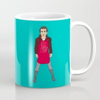 murray Mugs featuring Grill Murray  by Chelsea Herrick