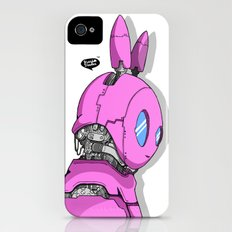 RoboBunny: Heroes are made not born (pink edition) Slim Case iPhone (4, 4s)