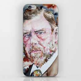 BRAM STOKER - watercolor portrait iPhone Skin
