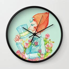 Pearl in a suit Wall Clock