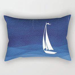 Garland of stars, sailboat Rectangular Pillow