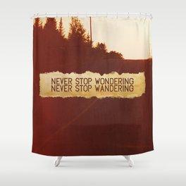 wonder + wander. Shower Curtain