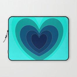Blue Hearts Laptop Sleeve