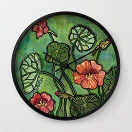 In the Garden ~ Nasturtium Wall Clock