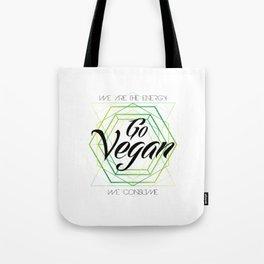 Vegan Geometry Tote Bag