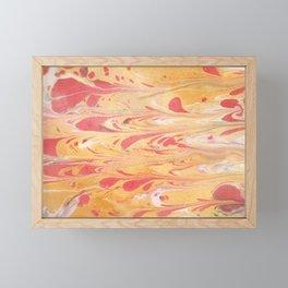 Yellow Marble Framed Mini Art Print