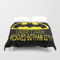 gotham Duvet Covers featuring Gotham City by Veronica Ventress