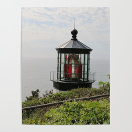 The Red Beacon On Tillamock Bay Poster