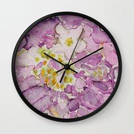 Watercolour Scabiosa Flower Wall Clock
