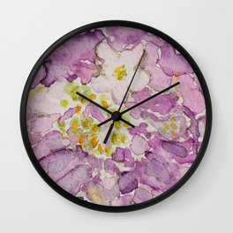 Watercolour Scabiosa Flower Wall Clock