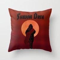 ninja Throw Pillows featuring NINJA by NENE W