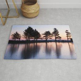 Winter Sunrise Photography Print Rug