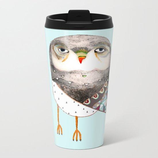 Owl by Ashley Percival Metal Travel Mug