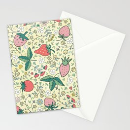 spring strawberries Stationery Cards