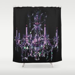 Amethyst Crystal Chandelier Shower Curtain