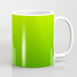 Bright Chartreuse Green Ombre Coffee Mug