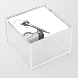 Black and White Pelican Acrylic Box
