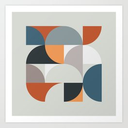 Mid Century Geometric 11 Art Print
