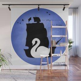 CAPTAIN SWAN (Blue) Wall Mural