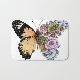 Butterfly in Bloom II Bath Mat
