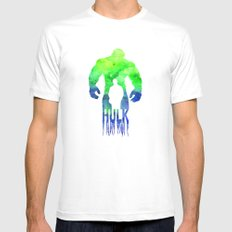 The Hulk  White MEDIUM Mens Fitted Tee