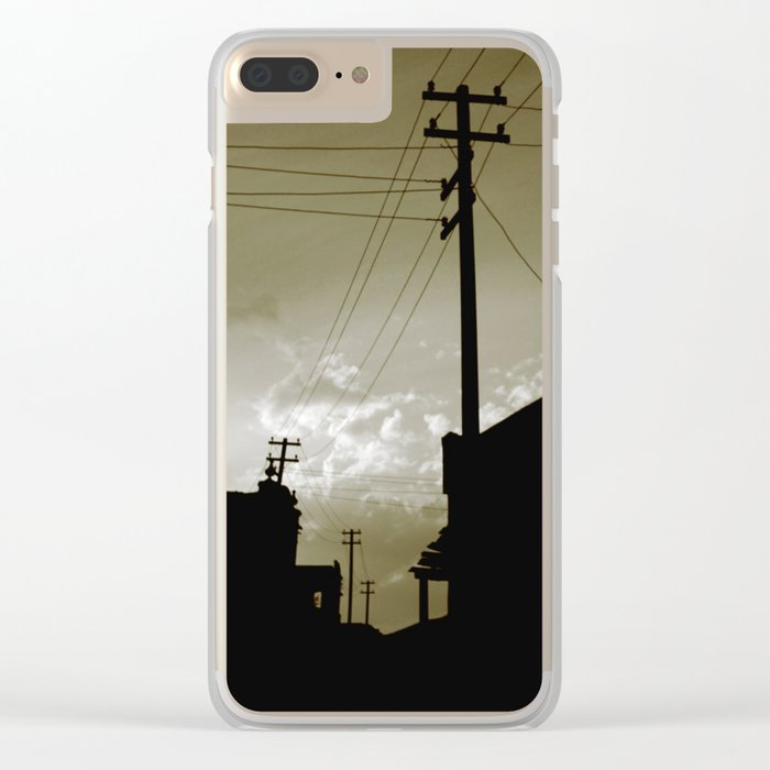 dust city Clear iPhone Case