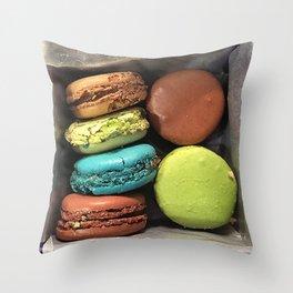 Macaroons of Paris Throw Pillow