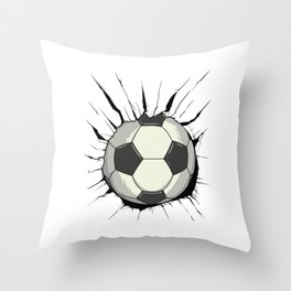 Breakthrough Football Throw Pillow