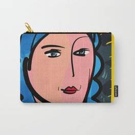 Fauve Girl Portrait with blue hair Carry-All Pouch