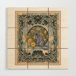 Cat Nouveau Wood Wall Art