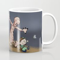 hobbes Mugs featuring Ofelia and Pale Man by Plane Yogurt
