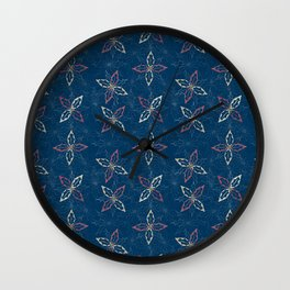 Holiday Holly Blue Wall Clock