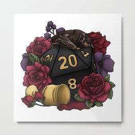 Vampire D20 Tabletop RPG Gaming Dice Metal Print