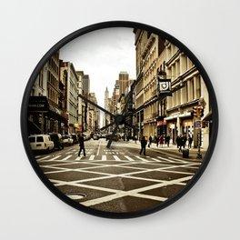 Broadway Crosswalk Wall Clock